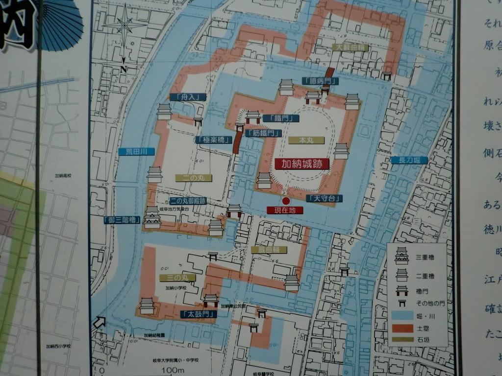 加納城はこんな城郭でした、今では考えられないほどの水に囲まれた城でした