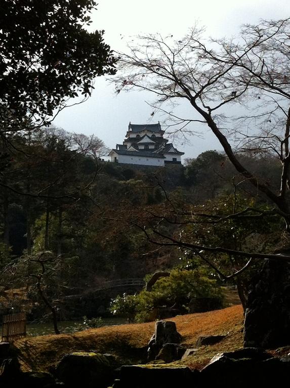 井伊家の庭園「玄宮園」から見た彦根城