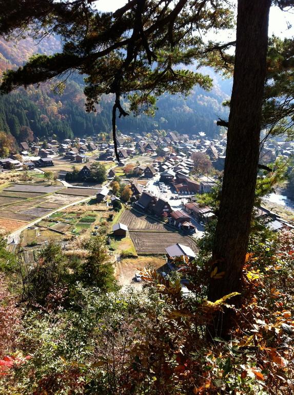 荻町城の突端まで移動してパチリ! 私はここからの景色のほうが好きです