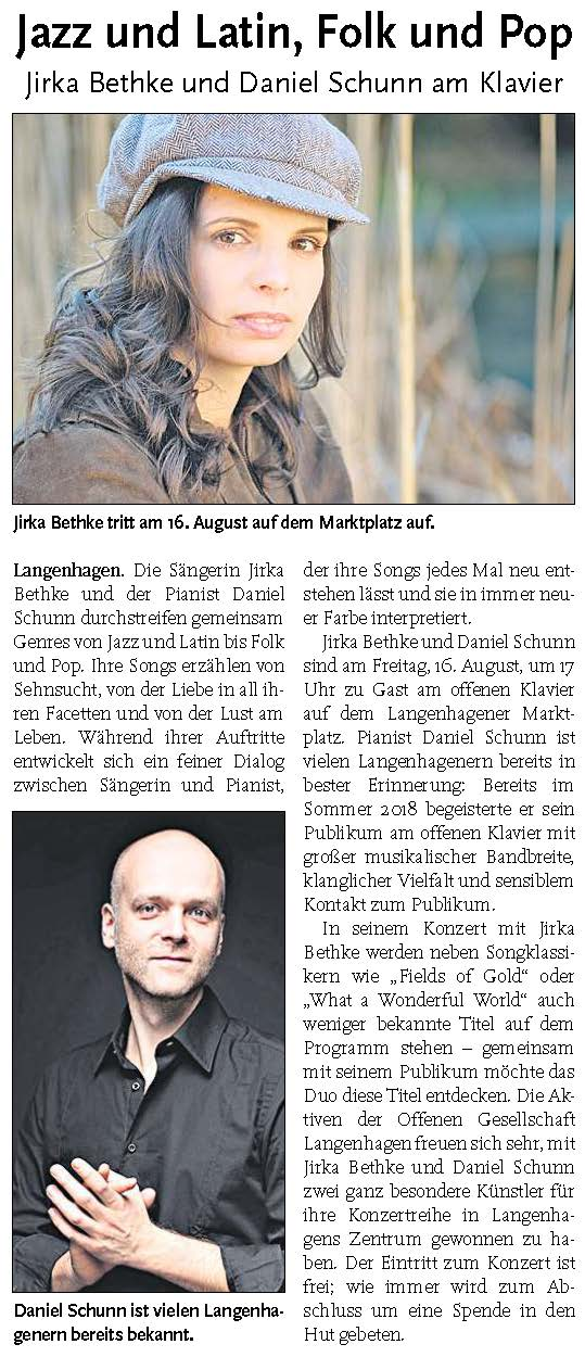 Langenhagener ECHO vom 7. August 2019