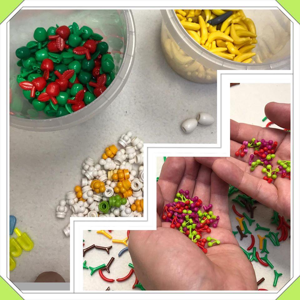 LEGO Ersatzteile - Selbst das Essen wird sortiert :-)