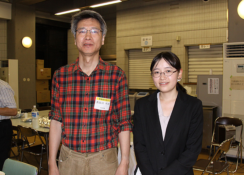 綜合司会の荒川ひかりさん(松江)と同サポート役の長谷川利治さん(宇部)。おつかれさまでした。