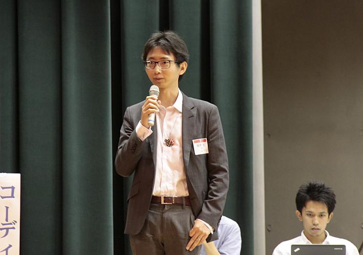 福野泰介さん (福井)=株式会社jig.jp(ジグジェイピー)代表取締役社長 による「企業とデータシティ鯖江への取り組み」講演