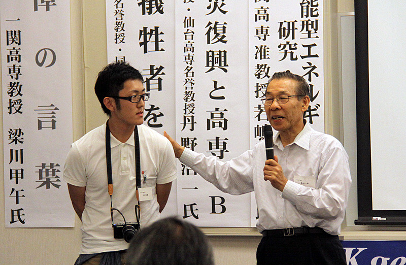 島田HNK顧問より、KOSEN's 阿部智樹さん(仙台高専名取キャンパス専攻科生)を紹介