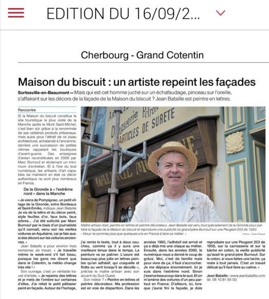 Ouest France (50) La Maison du Biscuit