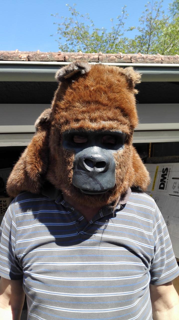 Gorilla-Maske vorne