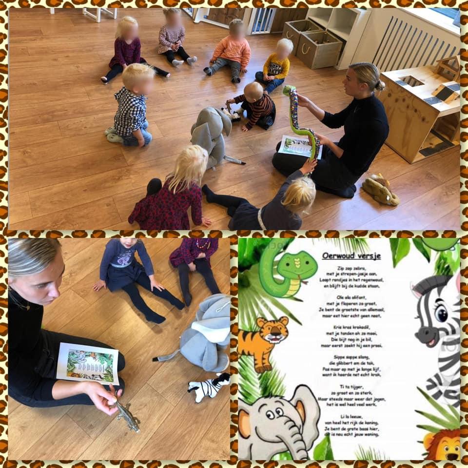 Bij het kinderdagverblijf: Liedje aanleren