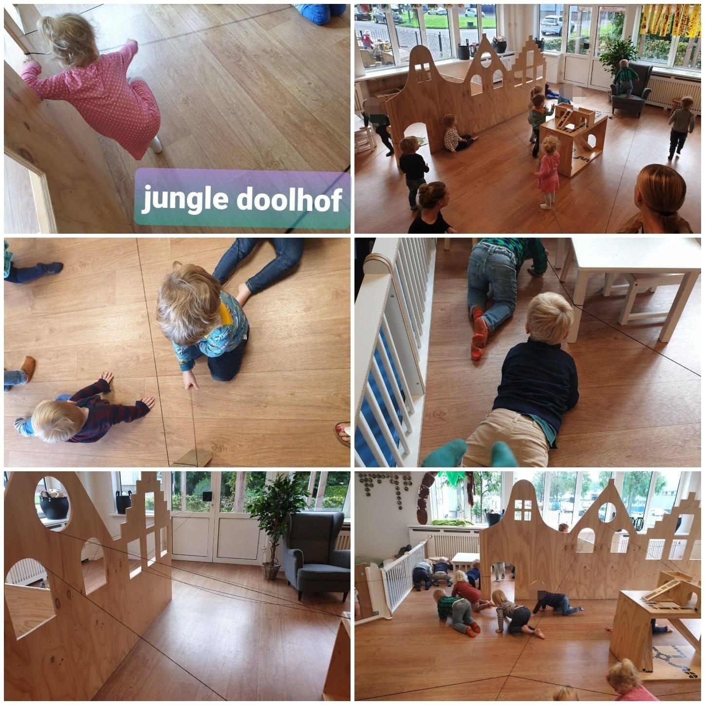 Bij het kinderdagverblijf: jungle