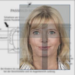 Passbild mit Zertifikat