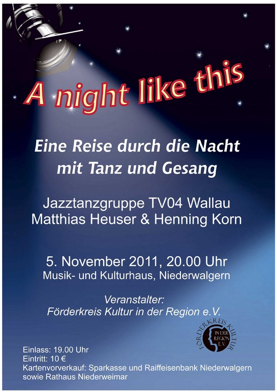 "Plakat zu ""A night like this"""