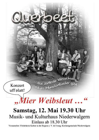 """Querbeet"" am Samstag, dem 12. Mai 2007, das Plakat"