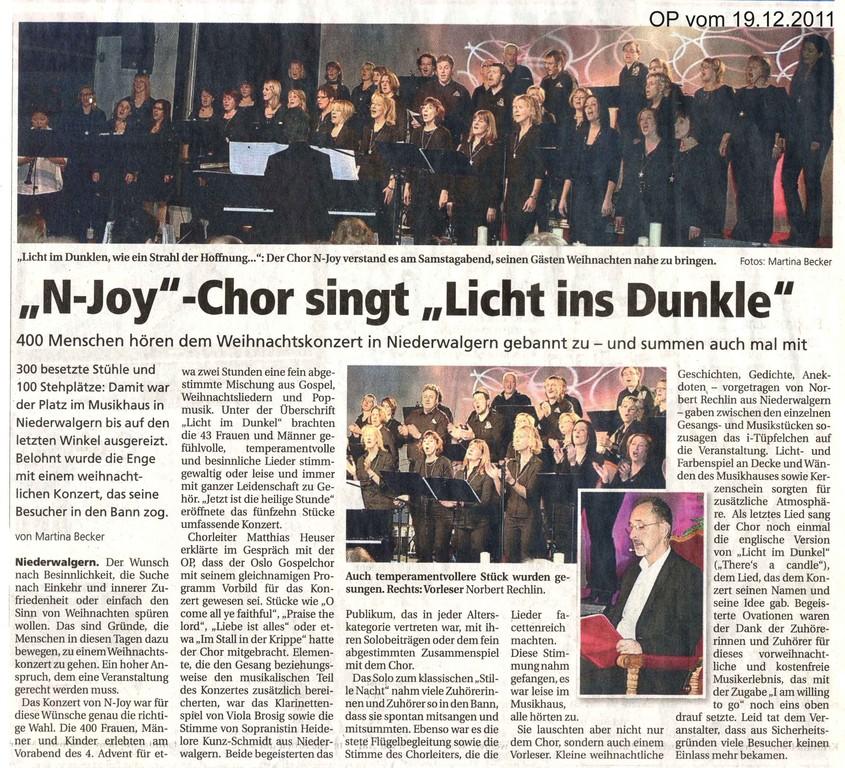 Oberhessische Presse vom 19. Dezember 2011