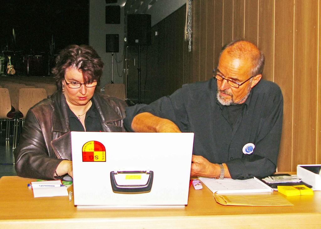 Sandra Scheidges-Klingelhöfer, Hans-Heinrich Heuser vom Förderkreis-Team
