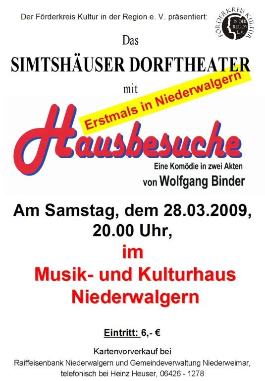 """""""Hausbesuche"""" eine Komödie des Simtshäuser Dorftheaters"""