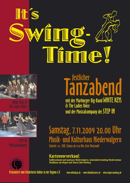 """""""It´s Swingtime"""", festlicher Tanzabend am 7. November 2009 im MKH Niederwalgern"""