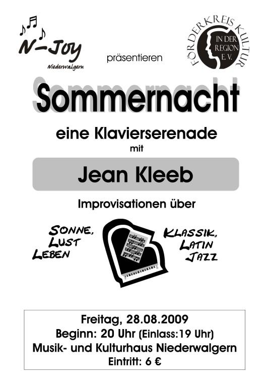 Sommernacht, eine Klavierserenade mit Jean Kleeb