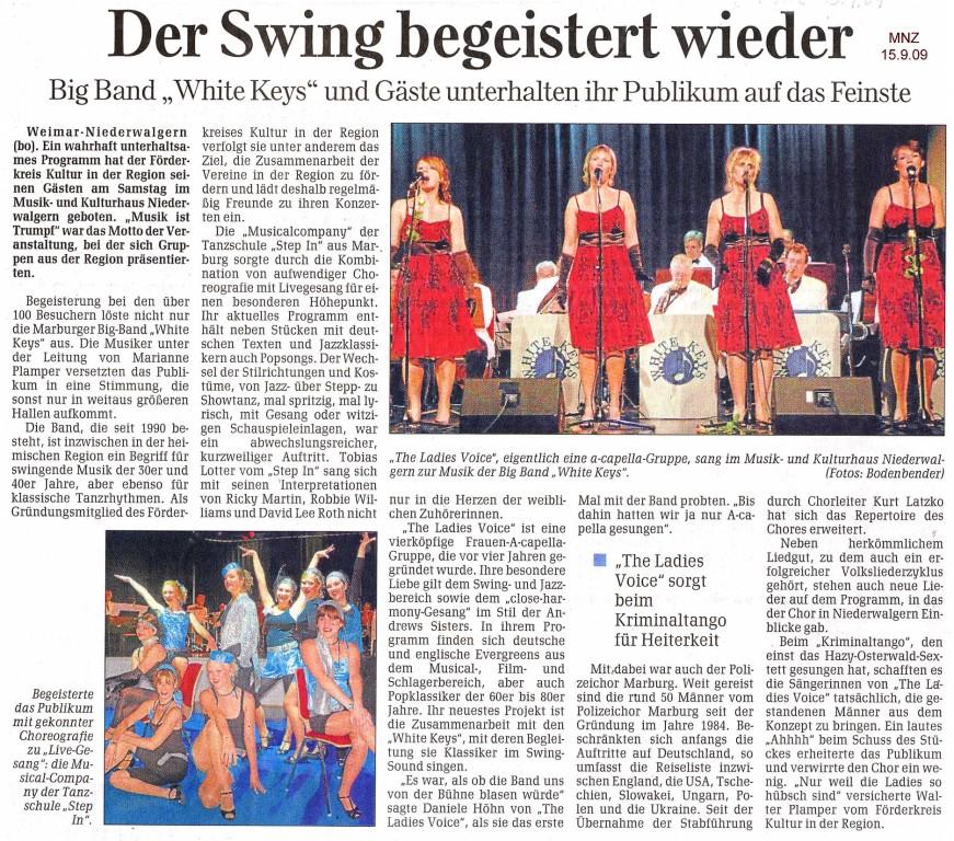 Marburger Neue Zeitung vom 15. September 2009