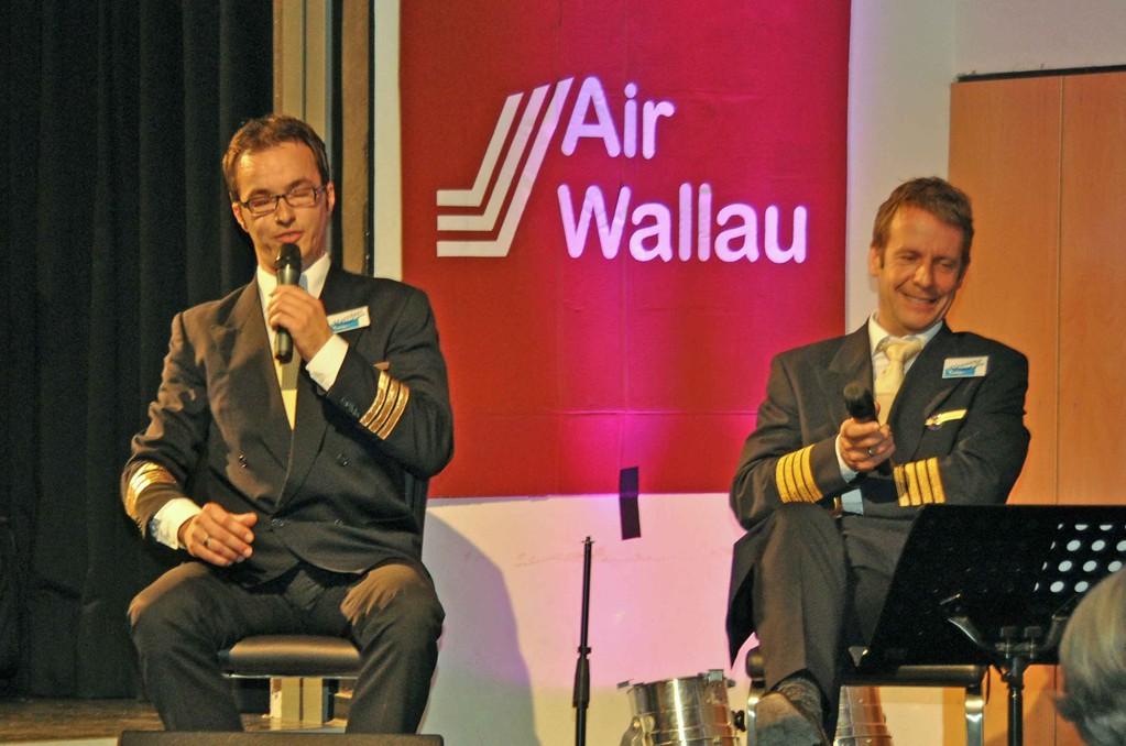 Die Piloten des Flugzeugs um die Welt, Matthias Heuser und Henning Korn
