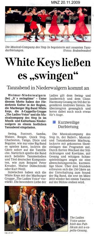 Marburger Neue Zeitung vom 20. November 2009