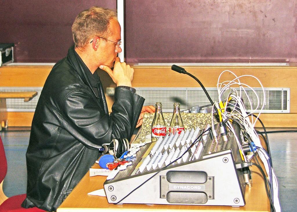 Steffen Karber am Lichtpult