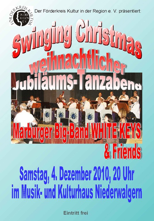 Swinging Christmas Tanzabend mit den WHITE KEYS
