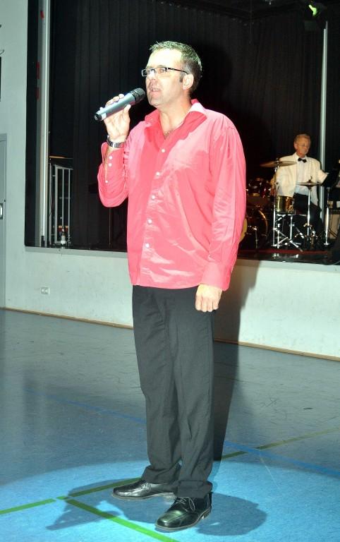 Sänger Tobias Lotter von der Musicalcompany des STEP IN