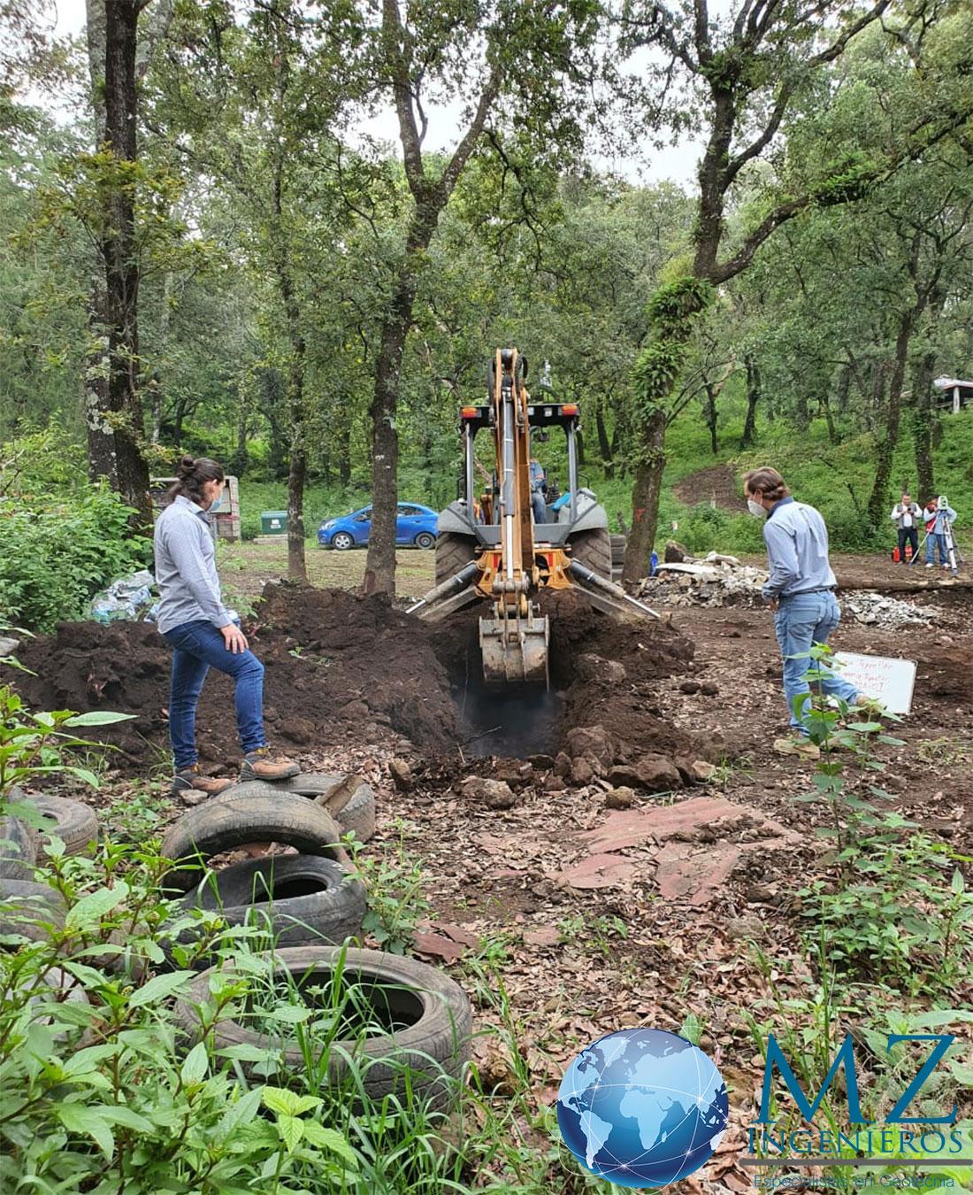 Estudio de mecánica de suelos en Tepoztlán