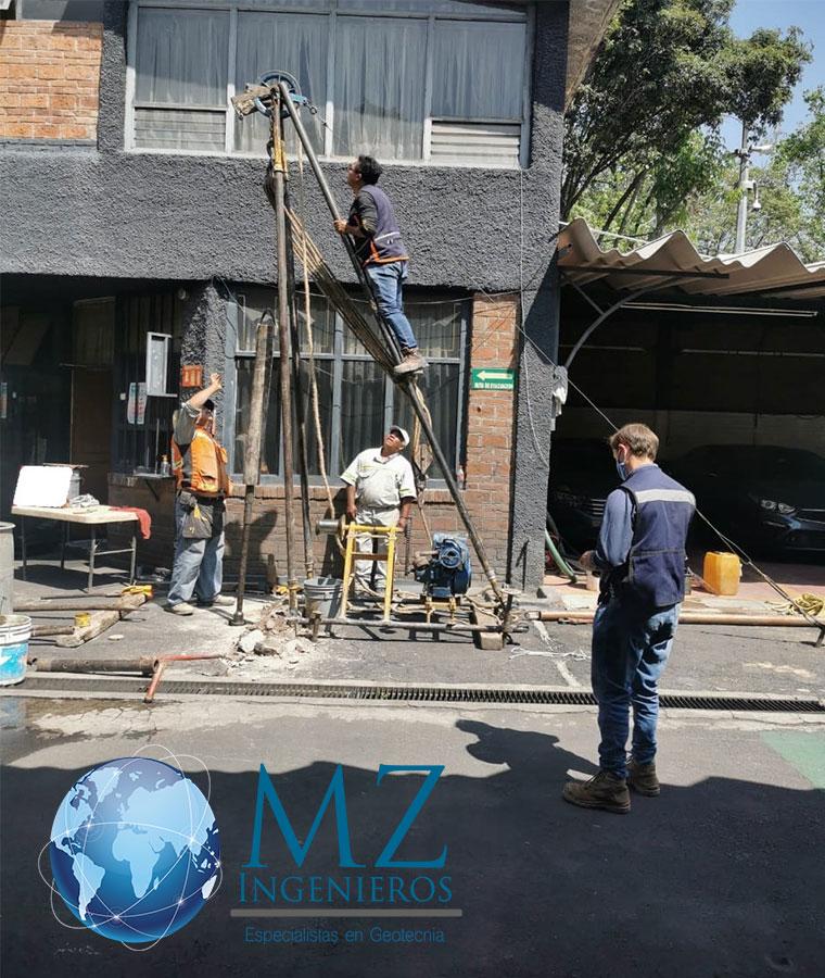 Exploración de mecánica de suelos en espacios reducidos