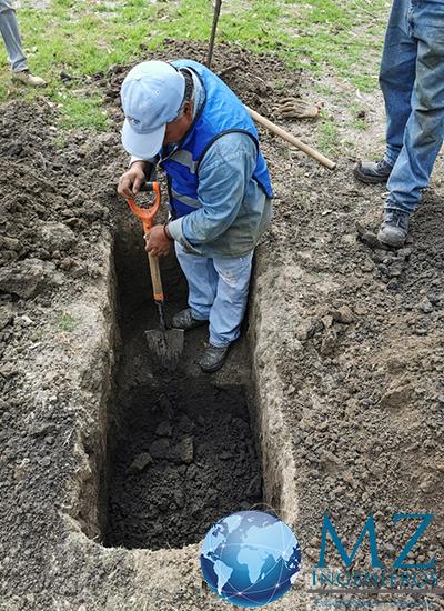 Inspección visual del PCA para el Estudio de Mecánica de suelos