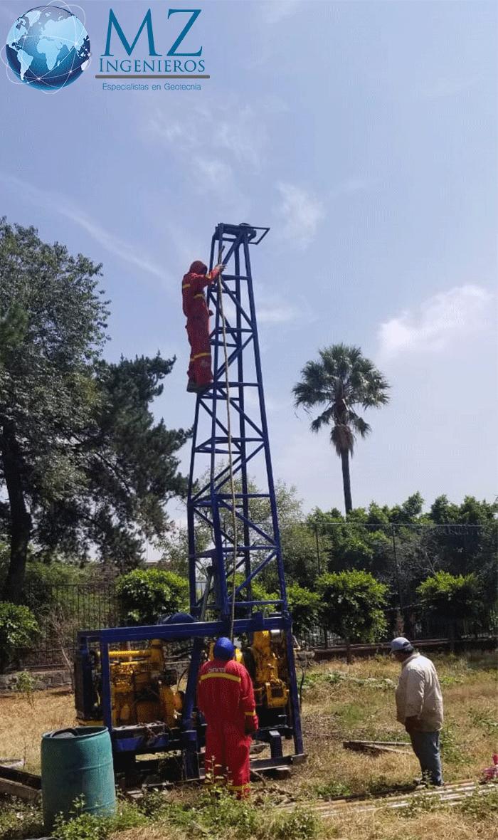 Trabajos de mecánica de suelos con técnica SPT