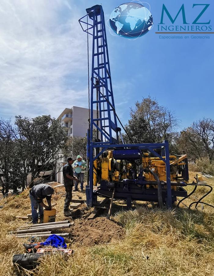 Ejecución de trabajos de exploración de mecánica de suelos