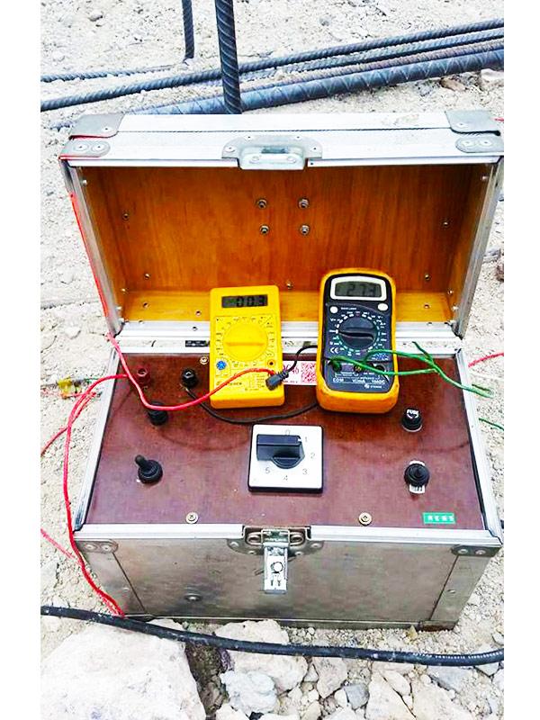 Exploración geofisica con Resistivímetro tipo Wenner, SEV