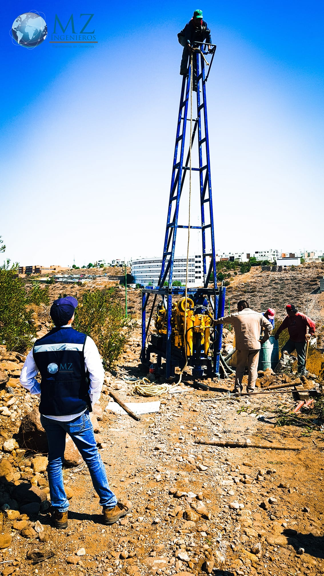Sondeo de Penetración Estándar (SPT) en estudio de mecánica de suelos