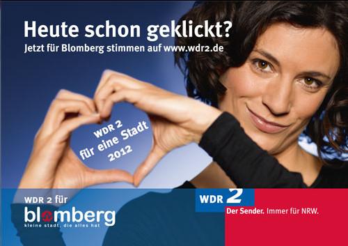 Anklicken und helfen das WDR 2 - Event nach Blomberg zu holen!