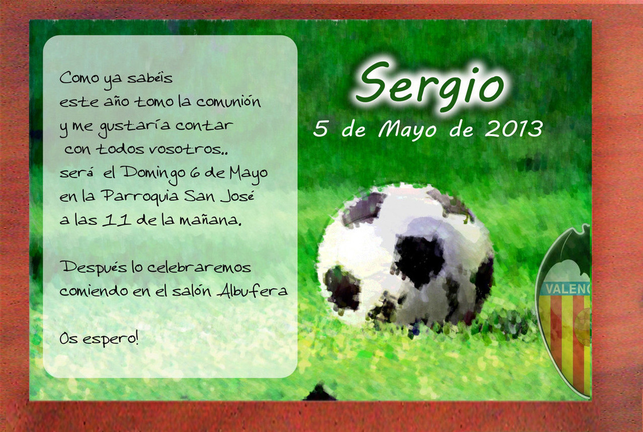 Invitacion De Futbol