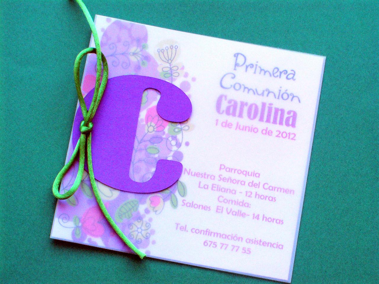 Invitaciones comunion especiales dobleainvitaciones - Como hacer tarjetas para comunion ...