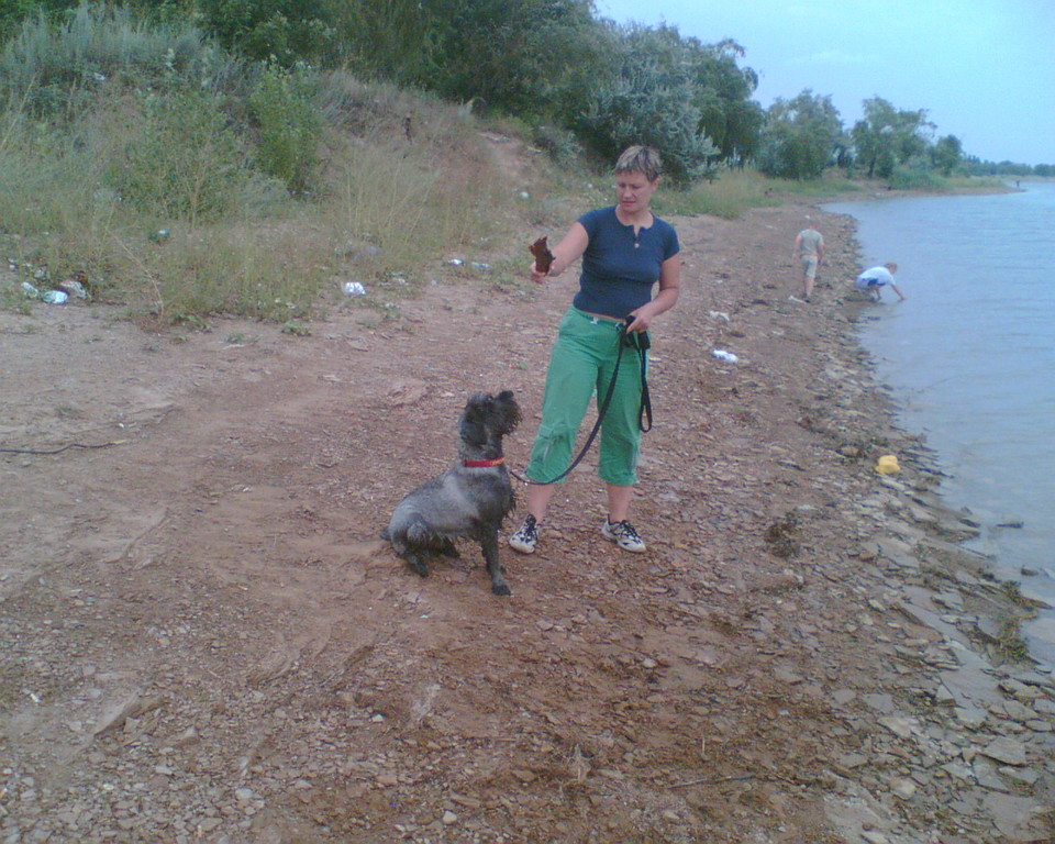 Гера с Ирой на прогулке