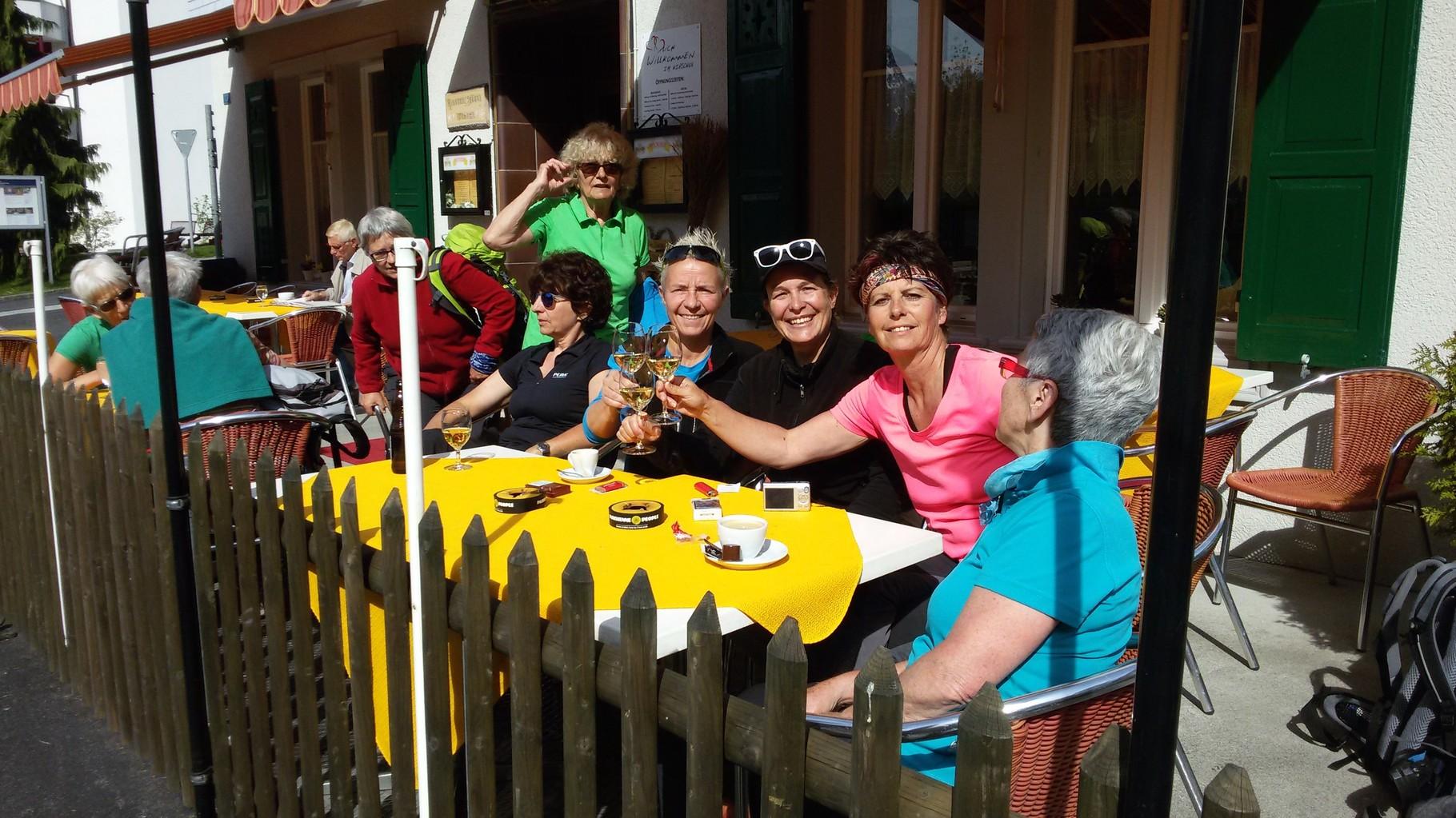 Kaffehalt in Morschach