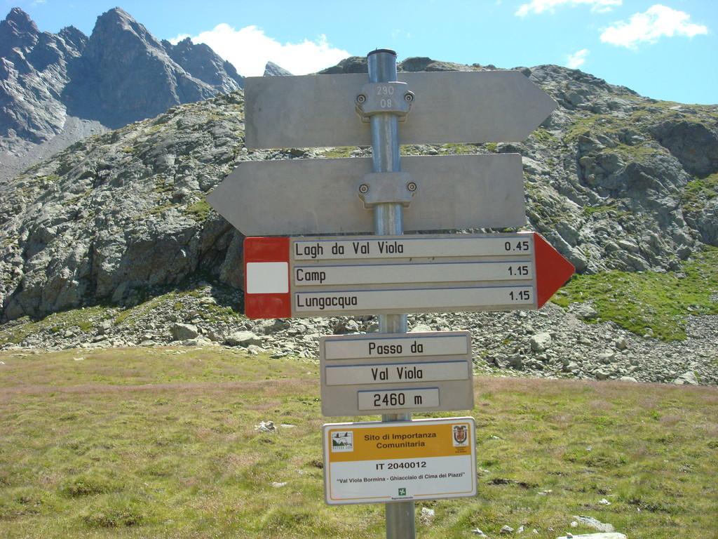 Pass Viola und Landesgrenze