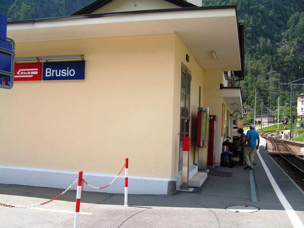 In Brusio endet die tolle Wanderung