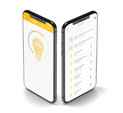 evon Smart Home Handy App Licht dimmen