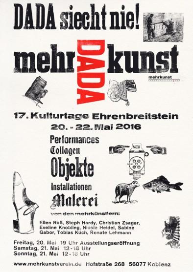 mehrdadakunst 17. Kulturtage Ehrenbreitstein www.mehrkunstverein.de Einladung Plakat