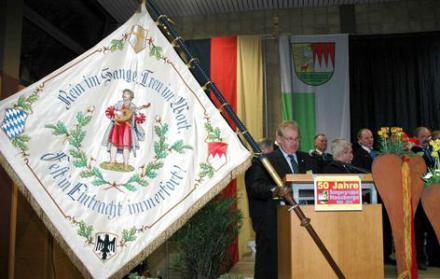 50 Jahre Sängergruppe Haßberge - Vorsitzender Werner Geisel in Untertheres - 2010