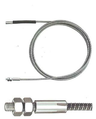 Rohrreinigungsspirale 10mm mit Holzgriff und fester Kralle von E/&R