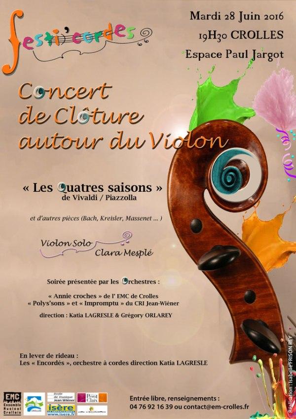 ecole de musique emc crolles-grésivaudan : affiche concert festicordes le 28-06-2016