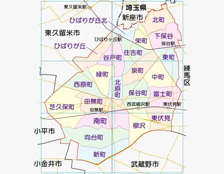 西東京市全体図(概念図)