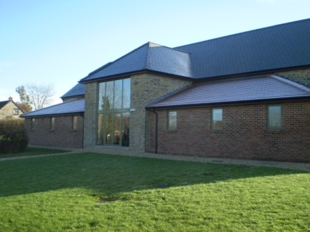 Council building - the use of the stone helps to soften the build