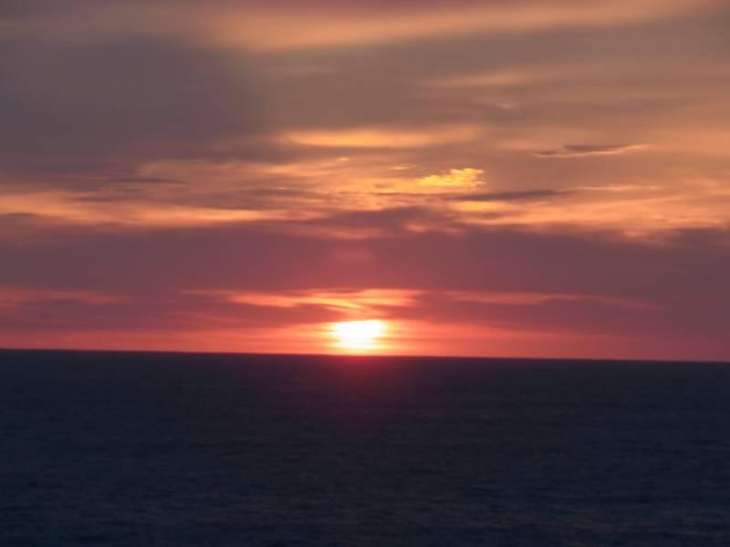 朝早起きして、独りで見たものだ、日の出