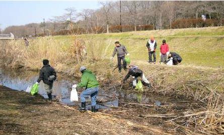 自然再生地区の清掃(地区全体は2月、部分的には随時)