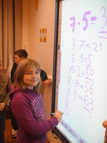 Mathematik mit unserem neuen Whiteboard